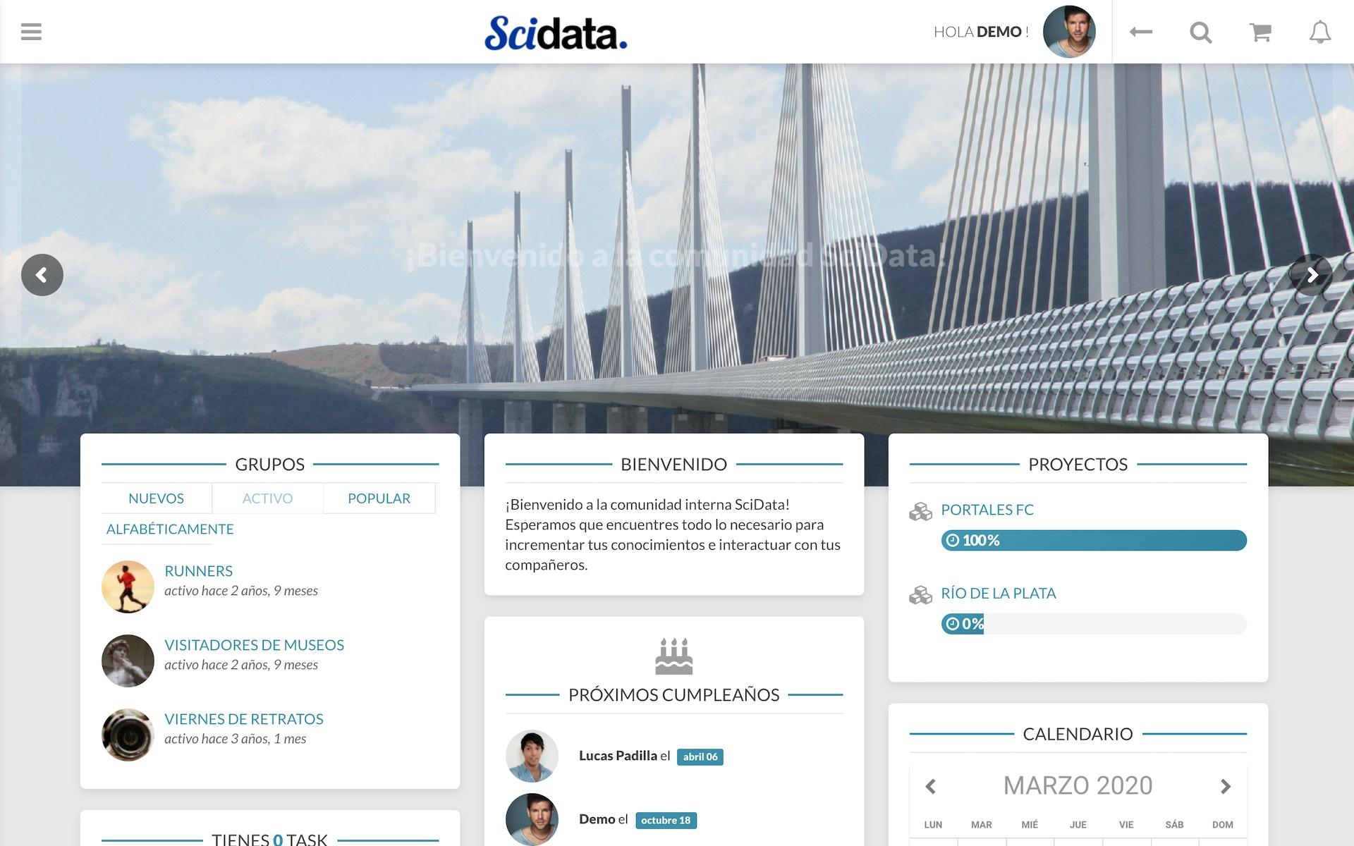 Comunidades internas SciData